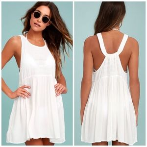 O'Neil white Ginger cover-up tank dress